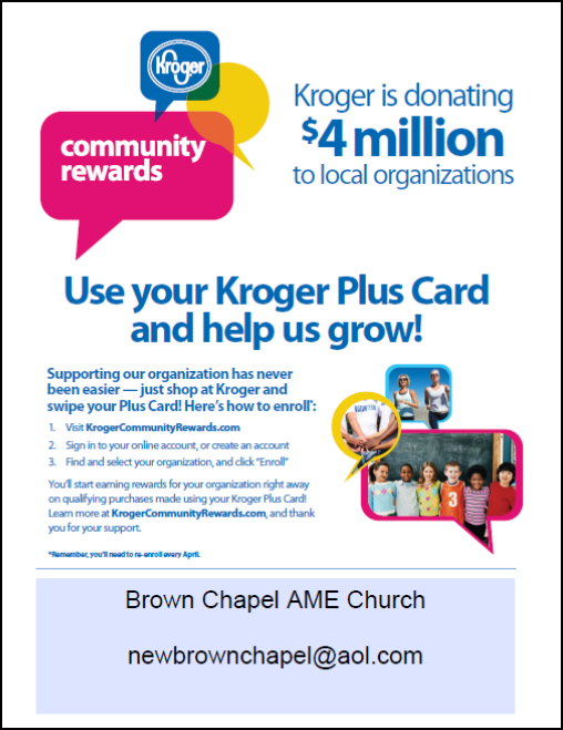 Kroger 4MM Donation